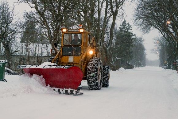 Snöröjning i Södra Möckleby
